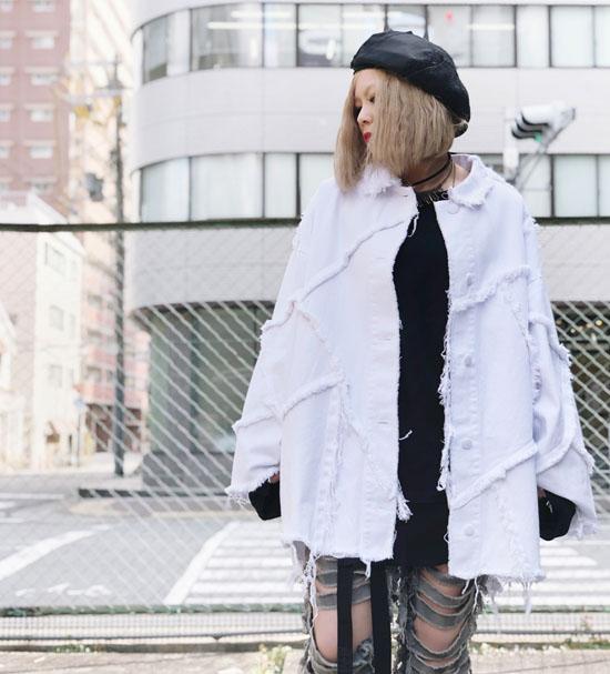 IKUMI パッチシャツジャケット