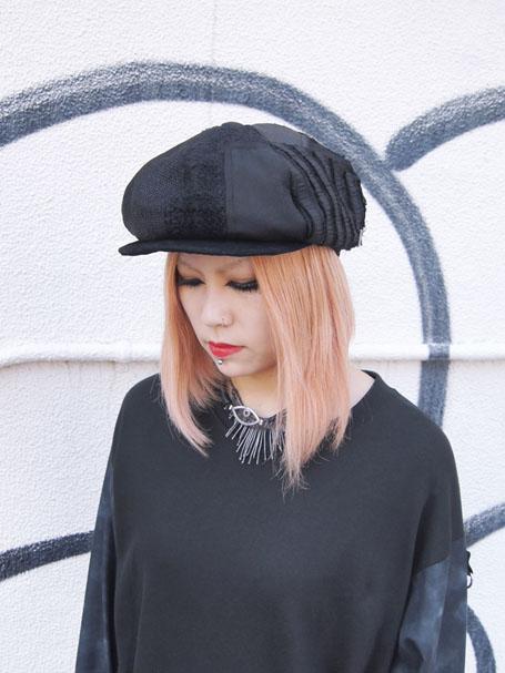 KROFUNE ミフネクロフネ パッチワークハンチング帽