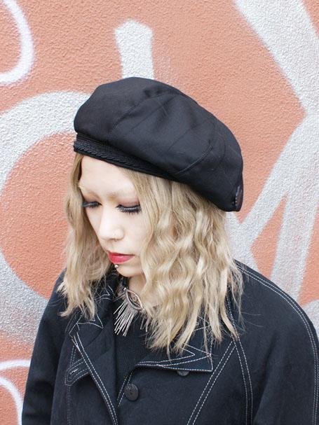 KROFUNE セーラーパイピングベレー帽