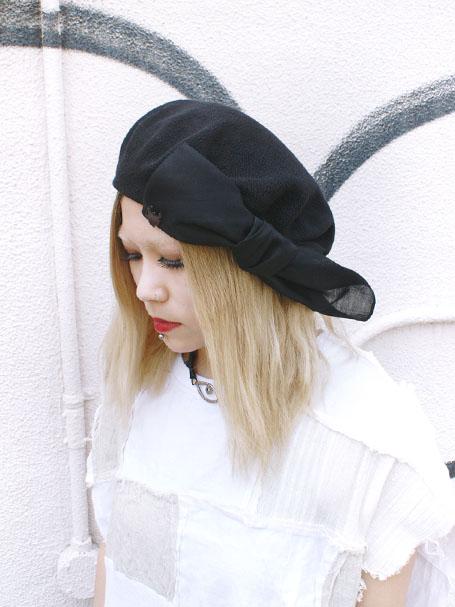 KROFUNE コットンニットーベレー帽