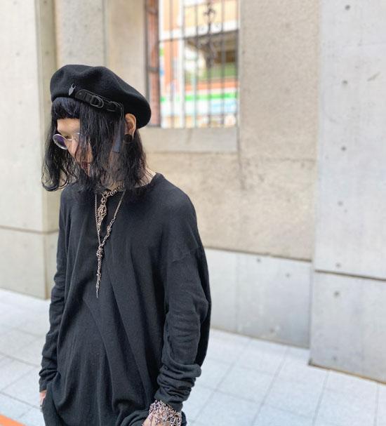KROFUNE BlackCircle パイピングベレー帽