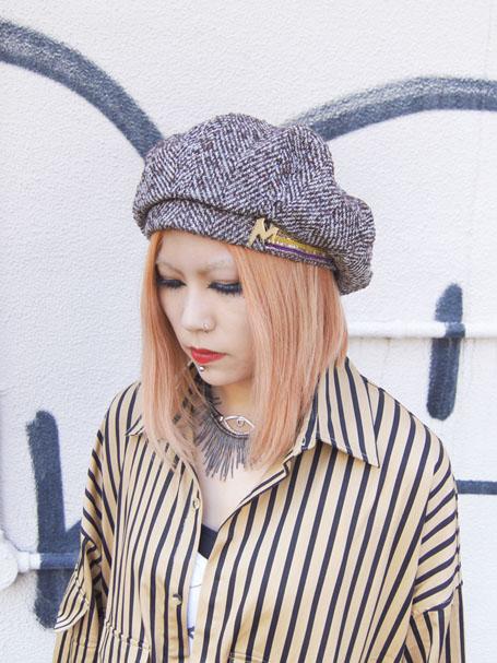 MIFUNE ミフネクロフネ MIXツイードベレー帽