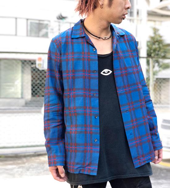 NOiSE CRAFT エリオットタータンオープンカラーチェックシャツ