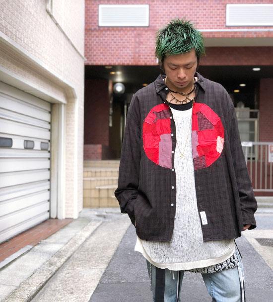 NOiSE CRAFT ONE OFF 日の丸クラストBIGシャツ