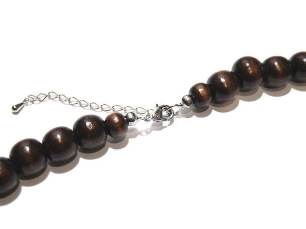 卵巣カテゴライズ 木札数珠ネックレス