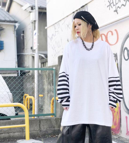 SHINICHI SUMINO ストライプロングスリーブTシャツカットソー