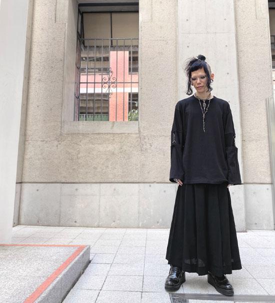 SHINICHI SUMINO モスリンロングスリーブTシャツカットソー