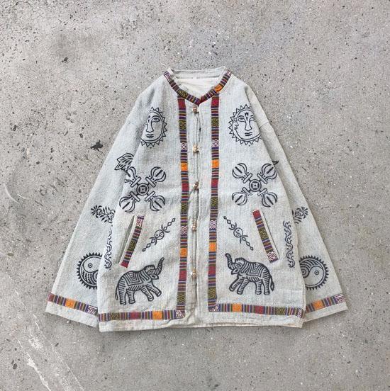 シンボルマーク陰陽ネパールシャツジャケット
