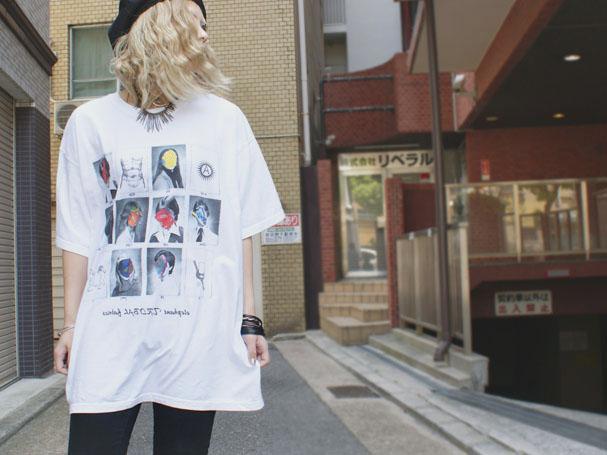 elephantTRIBALfabrics グラフィックBIGTシャツカットソー